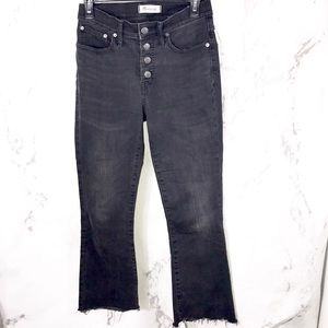 Madewell cali Demi boot cut denim jeans frayed